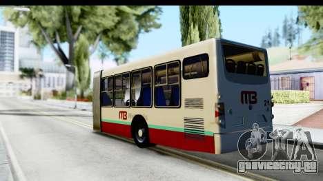 Metrobus de la Ciudad de Mexico Trailer для GTA San Andreas вид слева