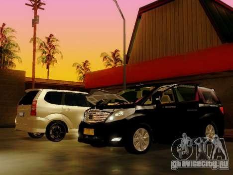 Toyota Alphard Taxi Silver Bird для GTA San Andreas вид сзади слева