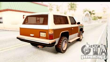 Rancher Sticker Bomb для GTA San Andreas вид сзади слева