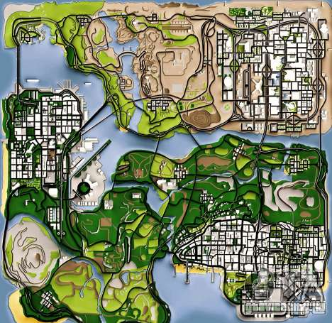 Remaster Map Full Version для GTA San Andreas