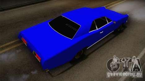 Bestia 1971 from Midnight Club 2 для GTA San Andreas вид сзади слева