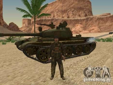 Т-62 для GTA San Andreas вид сбоку