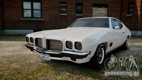 Pontiac LeMans Coupe 1971 для GTA 4 вид сзади