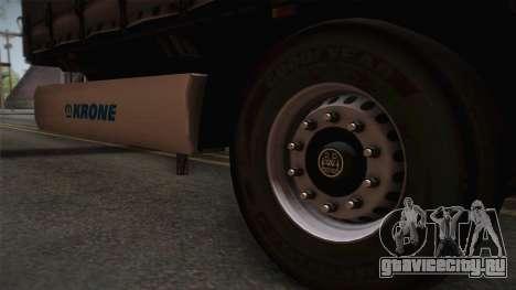 Mercedes-Benz Actros Mp4 v2.0 Tandem Trailer для GTA San Andreas вид сзади слева