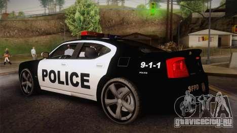 Dodge Charger SRT8 Police San Fierro для GTA San Andreas вид слева