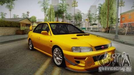Subaru Impreza WRX STI GC8 1999 v1.0 для GTA San Andreas вид сверху
