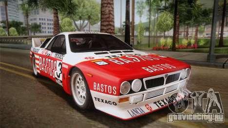 Lancia Rally 037 Stradale (SE037) 1982 HQLM PJ2 для GTA San Andreas вид слева