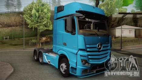 Mercedes-Benz Actros Mp4 6x4 v2.0 Gigaspace v2 для GTA San Andreas