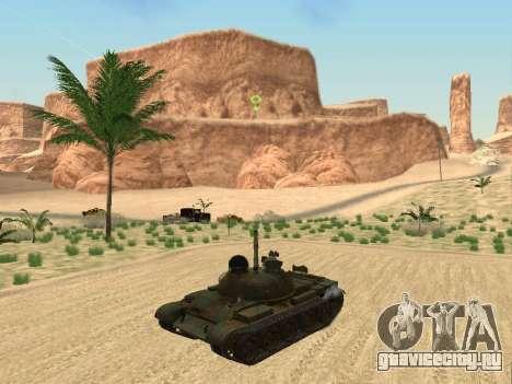 Т-62 для GTA San Andreas вид сзади