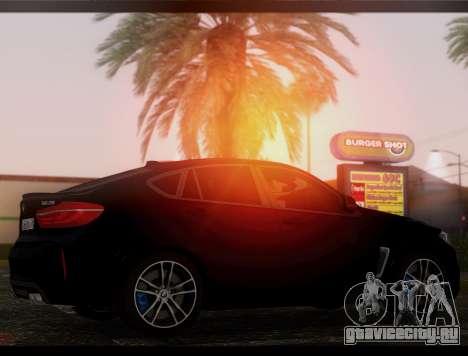 BMW X6M BULKIN ED. для GTA San Andreas вид слева