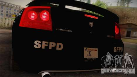 Dodge Charger SRT8 Police San Fierro для GTA San Andreas вид справа