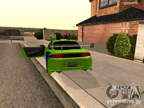 Mitsubishi Eclipse The Fast and the Furious для GTA San Andreas вид сзади слева