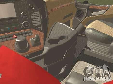 Mercedes-Benz Actros Mp4 6x4 v2.0 Gigaspace v2 для GTA San Andreas вид сзади