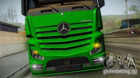 Mercedes-Benz Actros Mp4 6x2 v2.0 Gigaspace v2 для GTA San Andreas вид справа