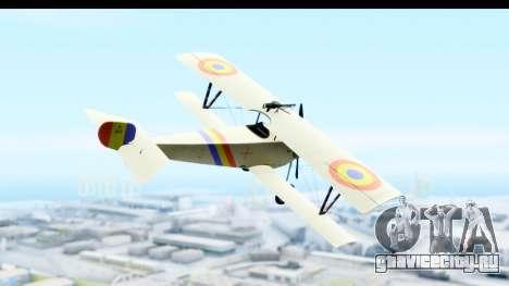 Nieuport 11 Bebe - Nr.865 Romania для GTA San Andreas вид справа