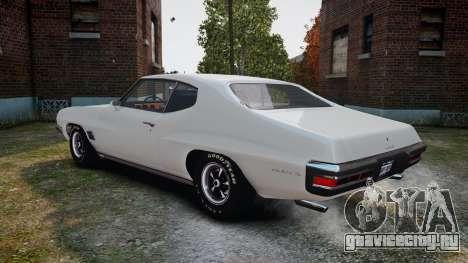 Pontiac LeMans Coupe 1971 для GTA 4 вид справа