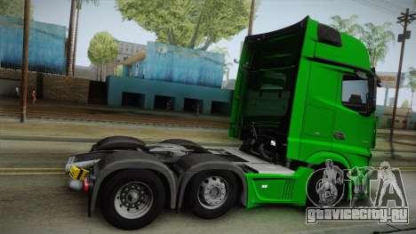 Mercedes-Benz Actros Mp4 6x2 v2.0 Gigaspace v2 для GTA San Andreas вид слева