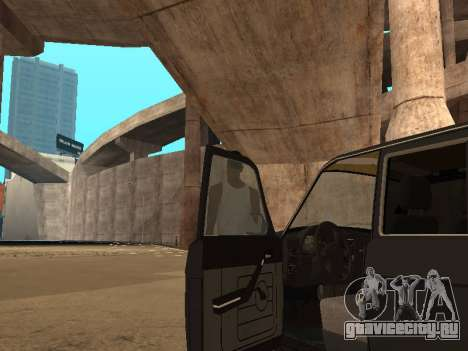 ГАЗ 310221 для GTA San Andreas вид изнутри