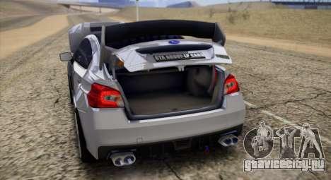Subaru WRX STI LP400 2016 для GTA San Andreas вид сзади