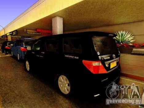 Toyota Alphard Taxi Silver Bird для GTA San Andreas вид слева
