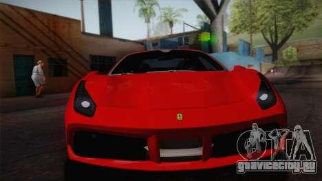 Ferrari 488 Spider для GTA San Andreas вид сзади слева