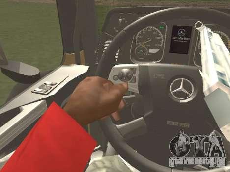 Mercedes-Benz Actros Mp4 4x2 v2.0 Gigaspace для GTA San Andreas вид изнутри