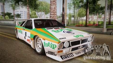 Lancia Rally 037 Stradale (SE037) 1982 HQLM PJ2 для GTA San Andreas вид сзади слева