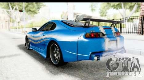 NFS: Carbon Darius Toyota Supra Updated для GTA San Andreas вид слева