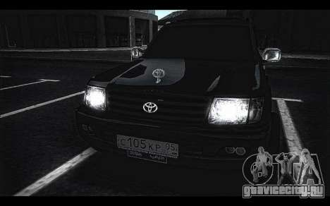 Toyota Land Cruiser 105 для GTA San Andreas вид сзади слева