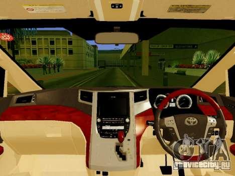 Toyota Alphard Taxi Silver Bird для GTA San Andreas вид справа