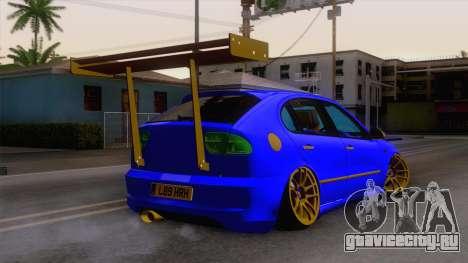 Seat Leon Haur Edition для GTA San Andreas вид слева