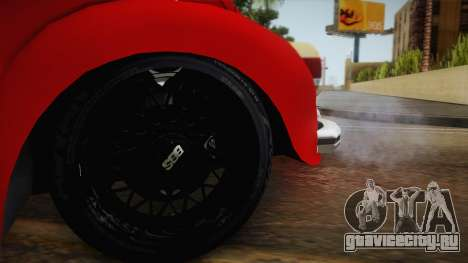 Volkswagen Beetle Escarabajo для GTA San Andreas вид сзади