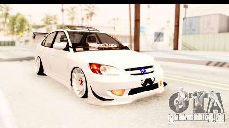 Honda Civic Vtec 2 Berkay Aksoy Tuning для GTA San Andreas вид сзади слева