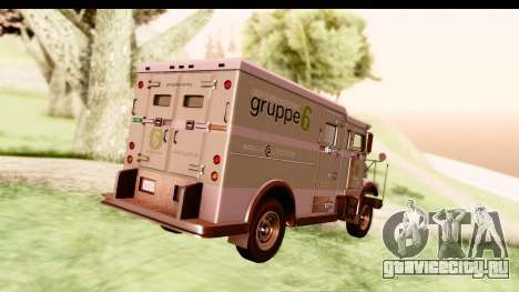 GTA 5 Stockade v2 IVF для GTA San Andreas вид справа