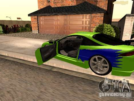 Mitsubishi Eclipse The Fast and the Furious для GTA San Andreas вид слева