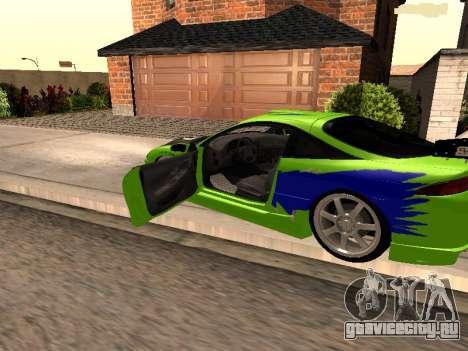 Mitsubishi Eclipse The Fast and the Furious для GTA San Andreas вид слева
