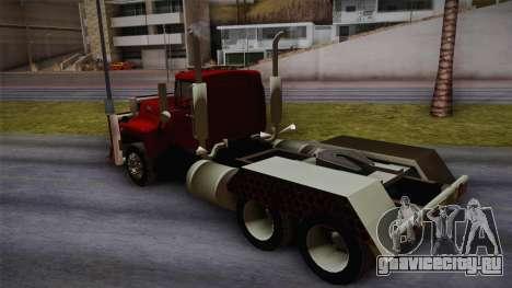 Mack R600 v2 для GTA San Andreas вид слева