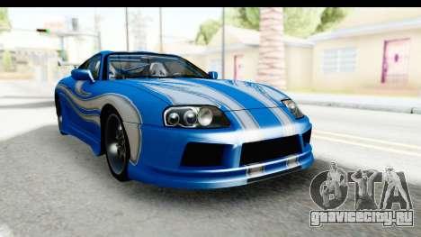 NFS: Carbon Darius Toyota Supra Updated для GTA San Andreas вид справа