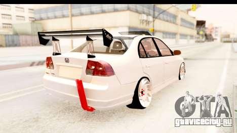 Honda Civic Vtec 2 Berkay Aksoy Tuning для GTA San Andreas вид слева