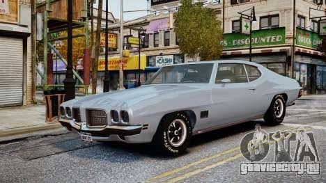 Pontiac LeMans Coupe 1971 для GTA 4 вид сбоку