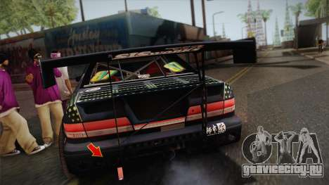 D1GP Toyota Mark II Sunoco Monster для GTA San Andreas вид сзади