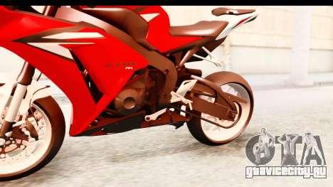 Honda CBR1000RR 2012 для GTA San Andreas вид изнутри