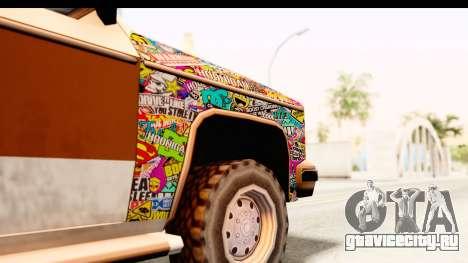 Rancher Sticker Bomb для GTA San Andreas вид сзади