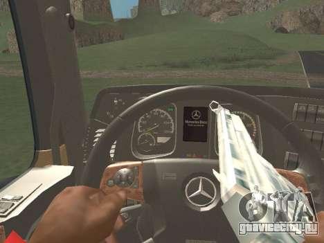 Mercedes-Benz Actros Mp4 4x2 v2.0 Steamspace v2 для GTA San Andreas вид изнутри