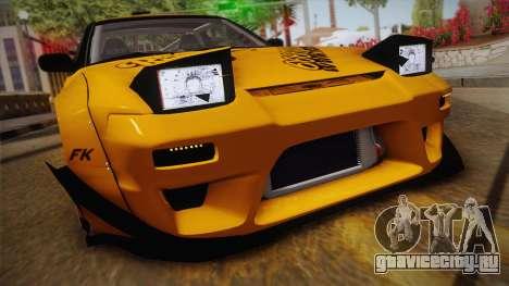 Nissan 180SX Rocket Bunny для GTA San Andreas вид сзади слева