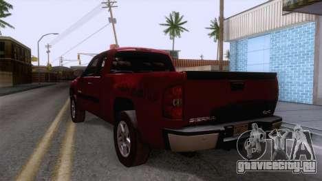 GMC Sierra 2015 для GTA San Andreas вид сзади слева