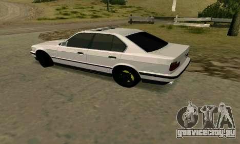 BMW 535i E34G для GTA San Andreas вид сзади слева