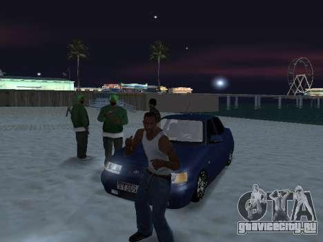 VAZ 2110 Beta Tuning для GTA San Andreas вид сзади слева