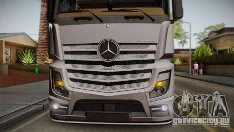 Mercedes-Benz Actros Mp4 4x2 v2.0 Steamspace v2 для GTA San Andreas вид сзади