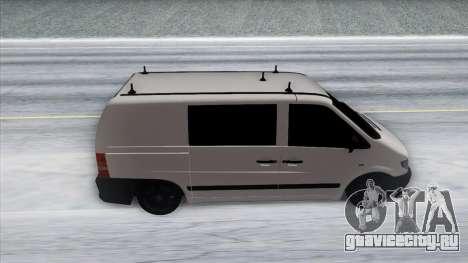 Mercedes-Benz Vito для GTA San Andreas вид изнутри